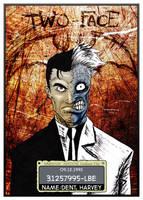 Arkham Asylum Mugshot - 2Face by oshikuma