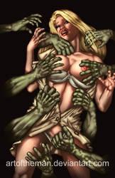 Commission : Zombie Grab by artoftheman