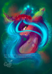 Queen Chrysalis REDRAW [with SPEEDPAINT] by Wilvarin-Liadon