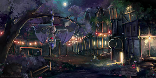 A starry night in Hollow Shades by Wilvarin-Liadon