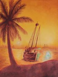 Le navire fantome by helene-le-dauphin