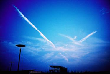 blue blue sky by santa019