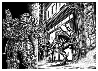Ultima Frontiera Shorts  Illustrations - WU 01 by GaetanoMatruglio