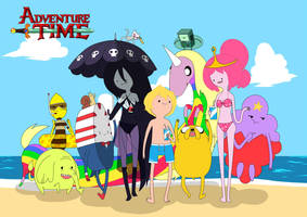 adventure time beach by carumbell