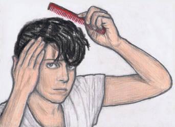 Jo Calderone combing his hair by gagambo