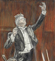 David Bowie as a conductor by gagambo