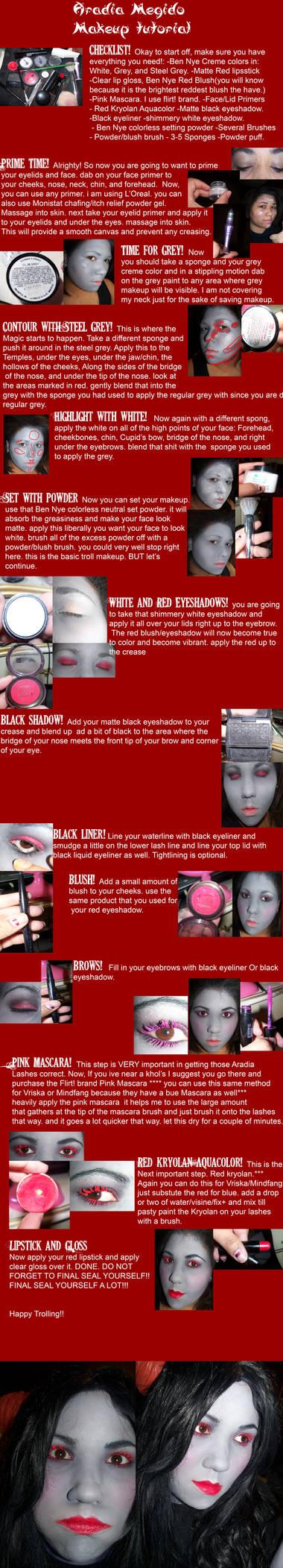 Aradia Megido Makeup Tutorial by MaliceMidnight