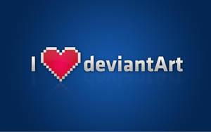 I Love DeviantART by mushir