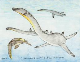Draw Dinovember day 10 ~ Styxosaurus snowii by Pterosaur-Freak
