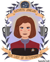 Kathryn Janeway by theblamelessflame
