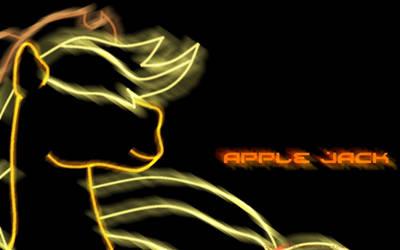 Apple Jack Glowy Wallpaper by ColorsofCrystal
