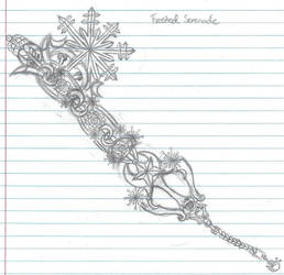 Aiko's keyblade design by LiberatedPuppeteer
