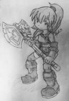 Red, Furious, With an Axe... and Cute. by foresteronly