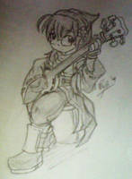 Eremidian Bard -sketch- by foresteronly