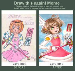 Draw this again - Sakura by lauralaima