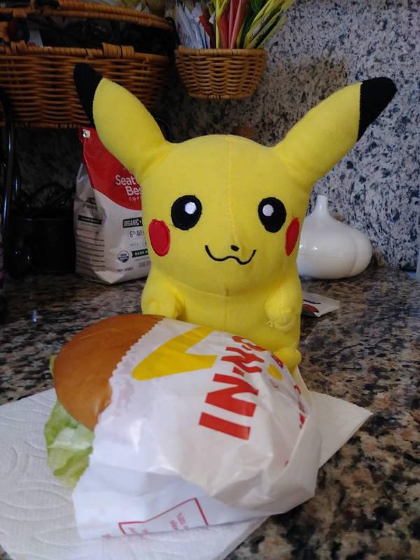 Pikachu's Hamburger! by Sonic1612