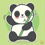 Kawaii Panda by honeyburger