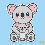 Koala and Baby by honeyburger