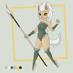 Kamia the Wolfwalker by kamiawolf
