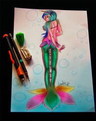 Cursed Mermaid by Lambii