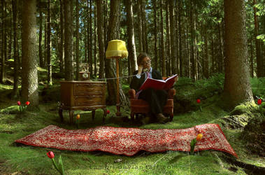 Forest Living Room by Lambii