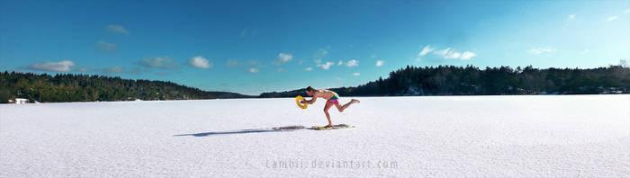 Winter Swim by Lambii