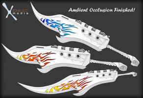 Fantasy Flame Sword - (in development for SL) AO by EntecMedia
