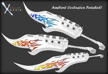 Fantasy Flame Sword - (in development for SL) AO by EntecMedia