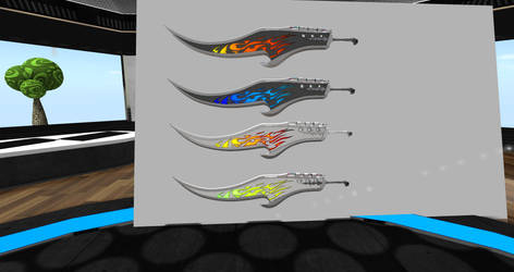Fantasy Flame Sword - Screen directly from SL by EntecMedia
