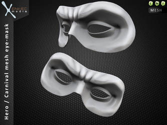 HERO / Carnival mesh mask - Only at Secondlife by EntecMedia