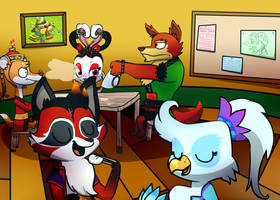 Just Another Day In Xiaolin by Cookie-and-her-foxes