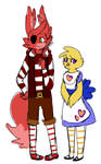 Fnac 3.0 Designs: Foxy And Chica by Cookie-and-her-foxes