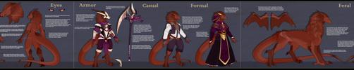 [COM] Full Ref - Reth The Coppergold Dragoness by Solar-Paragon