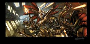 Gatchaman Vs Galactors by Tonywash