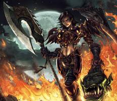 Warcraft: Lyssa Card by Tonywash