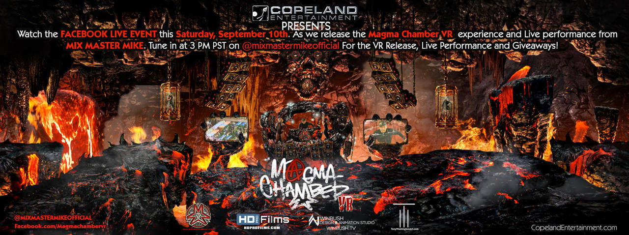 Magma Chamber VR - Live Stream Poster by Tonywash