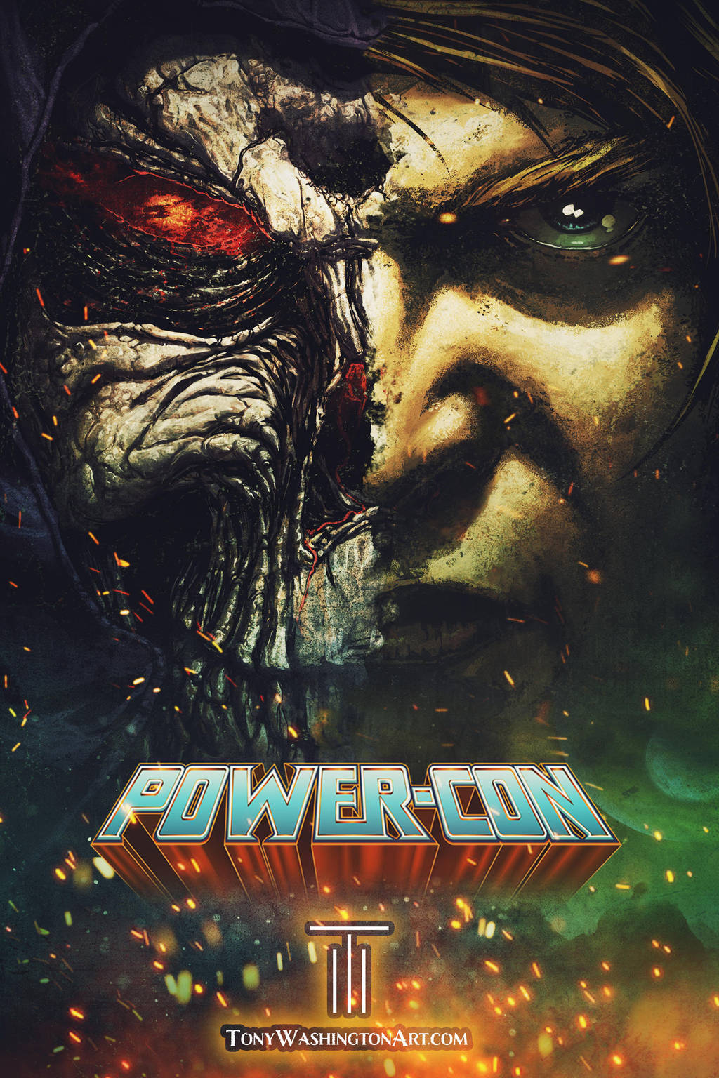 Powercon 2018 Promo Art by Tonywash