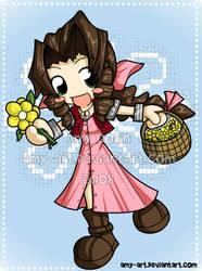 Aeris - Final Fantasy 7 by amy-art