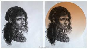 Germanic Gods: IDUN goddess of youth by LeneMa7991
