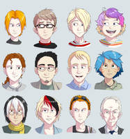 Character headshots by twapa