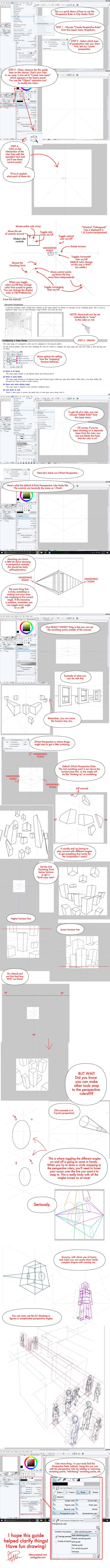 Clip Studio Paint Perspective Ruler Tutorial! by twapa