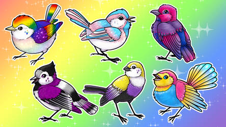 Pride Birds (Charms Kickstarter Now Live!) by twapa