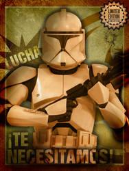 Star Wars Poster - Te necesitamos - We need you by DoctorAnonimous