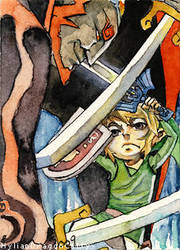 ACEO 1 - Last Hero by HylianDragonCatty