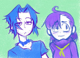 Blue and Purple Snipperclips by Zionthe2