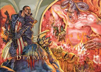 DIABLOIII Crusader-In-Hell by InkaMagic