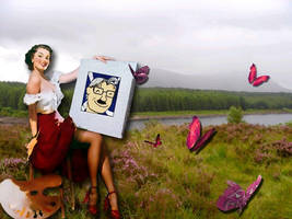 Painting in Highlands by Canankk