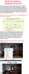 How to make Editted Homestuck gifs Tutorial by tinystalker