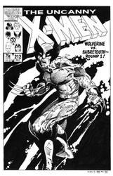 Uncanny X-Men #212 Cover Recreation by dalgoda7