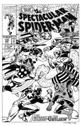 Spectacular Spider-Man #170 Cover Recreation by dalgoda7